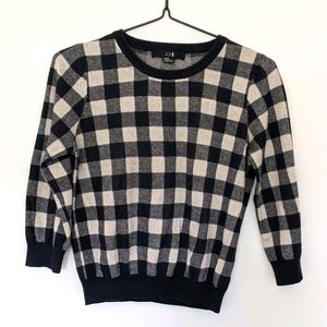 Forever 21 Plaid knitted Blouse